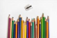 彩色铅笔文具图片