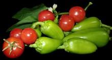蕃茄辣椒蔬菜高清图片