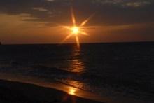 黄昏海上天空日落图片大全
