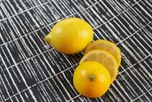鲜柠檬切片高清图
