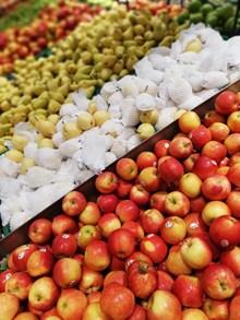 超市水果摊位高清图片