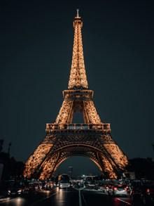 埃菲尔铁塔夜景高清高清图