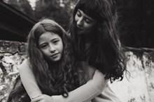 母女黑白合照精美图片