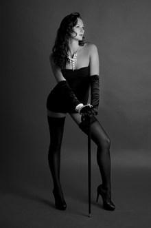 黑白欧美丝袜美女写真高清图