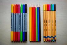 彩色的画笔精美图片