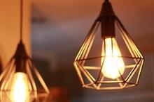 室内复古装饰灯光图片素材