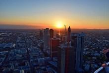 法兰克福城市日落景观图片大全