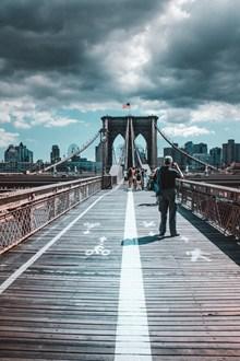 美国纽约布鲁克林大桥高清图片