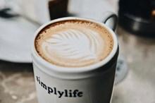 简易咖啡拉花高清图片