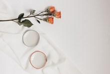一支玫瑰花背景图片素材