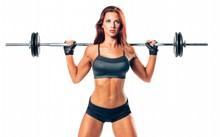 健身美女人体艺术图片素材