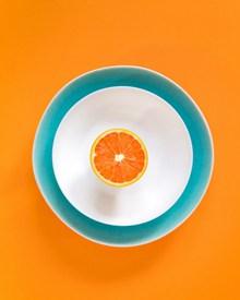 橙子摆盘背景高清图片