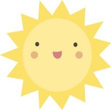 黄色卡通太阳精美图片