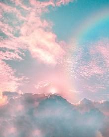 七色彩虹唯美风景高清图