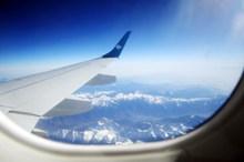 窗外飞机侧翼图片大全