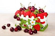 新鲜草莓樱桃水果高清图