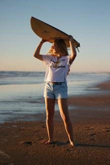海滩阳光美女图片素材