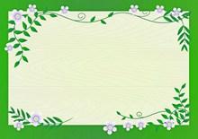 绿色花框卡通素材图片