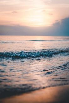 黄昏大海唯美意境图片大全