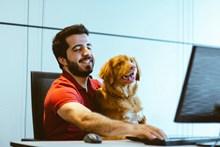 狗狗与帅哥头像图片大全
