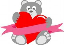 儿童节爱心卡通小熊高清图