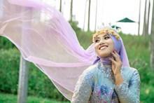 民族美女婚纱图片
