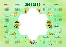 2020年日历设计图片素材