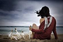 海边意境西西人体艺术摄影图片下载