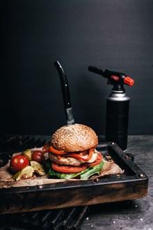 蔬菜牛肉汉堡 蔬菜牛肉汉堡大全图片素材