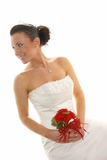 韩式抹胸婚纱照精美图片
