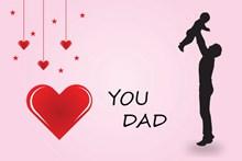 父亲节粉色海报高清图片