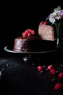 8寸水果巧克力蛋糕图片下载