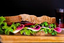 蔬菜三明治早餐高清图片