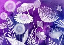 创意鲜花背景设计高清图