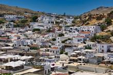 希腊城镇建筑图片