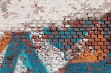 砖墙涂鸦背景图片素材