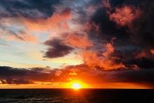 北海日落景观图片