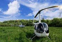 户外搜救直升机图片素材