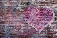 涂鸦砖墙背景高清图片