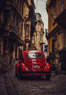 红色smart微型汽车精美图片
