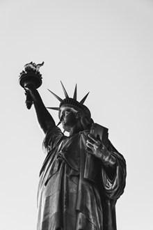 黑白自由女神像图片下载
