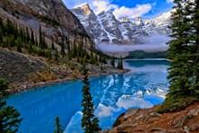 山水湖泊风景唯美意境图片下载