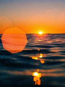 唯美海上夕阳风景高清图