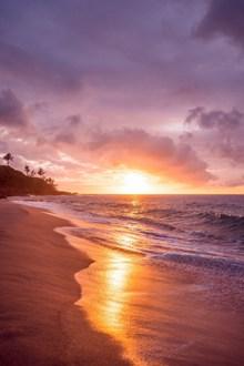 海边黄昏唯美意境图片大全