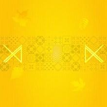 黃色花紋背景素材圖片