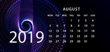 2019年8月日历大图高清图片