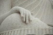大石像手部局部特写图片素材
