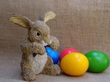 复活节彩蛋兔子素材高清图片