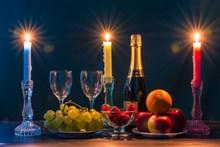 烛光晚餐素材图片