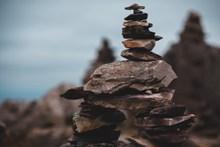 堆叠岩石精美图片